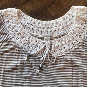 Lucky Brand Tops - Lucky Brand Crochet Short Sleeve Top